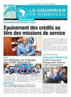 Les Dépêches de Brazzaville : Édition le courrier de kinshasa du 27 novembre 2020