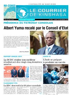 Les Dépêches de Brazzaville : Édition le courrier de kinshasa du 30 novembre 2020