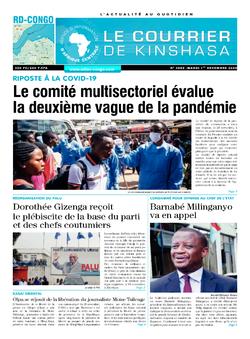 Les Dépêches de Brazzaville : Édition le courrier de kinshasa du 01 décembre 2020