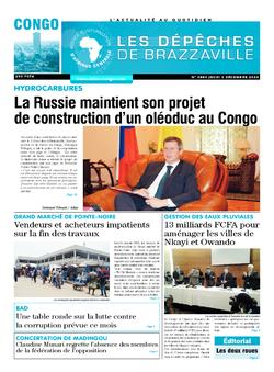 Les Dépêches de Brazzaville : Édition brazzaville du 03 décembre 2020