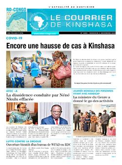 Les Dépêches de Brazzaville : Édition le courrier de kinshasa du 04 décembre 2020