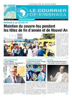 Les Dépêches de Brazzaville : Édition le courrier de kinshasa du 24 décembre 2020
