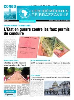 Les Dépêches de Brazzaville : Édition brazzaville du 20 janvier 2021