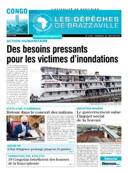 Les Dépêches de Brazzaville : Édition brazzaville du 22 janvier 2021