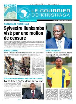 Les Dépêches de Brazzaville : Édition le courrier de kinshasa du 26 janvier 2021