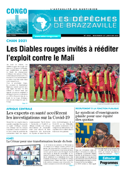Les Dépêches de Brazzaville : Édition brazzaville du 27 janvier 2021