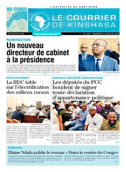 Les Dépêches de Brazzaville : Édition le courrier de kinshasa du 27 janvier 2021