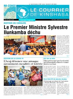 Les Dépêches de Brazzaville : Édition le courrier de kinshasa du 28 janvier 2021