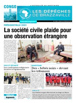 Les Dépêches de Brazzaville : Édition brazzaville du 25 février 2021
