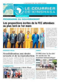 Les Dépêches de Brazzaville : Édition le courrier de kinshasa du 01 mars 2021