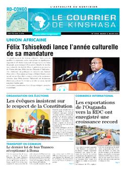 Les Dépêches de Brazzaville : Édition le courrier de kinshasa du 02 mars 2021