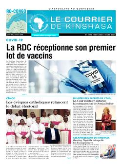 Les Dépêches de Brazzaville : Édition le courrier de kinshasa du 03 mars 2021