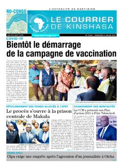 Les Dépêches de Brazzaville : Édition le courrier de kinshasa du 05 mars 2021