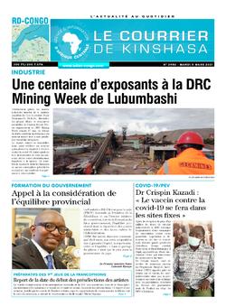 Les Dépêches de Brazzaville : Édition le courrier de kinshasa du 09 mars 2021