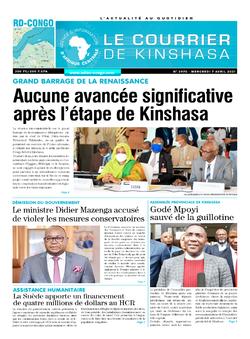 Les Dépêches de Brazzaville : Édition le courrier de kinshasa du 07 avril 2021