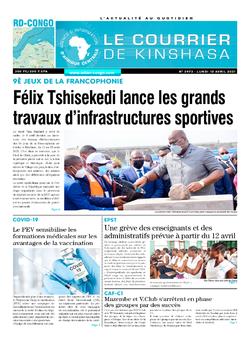 Les Dépêches de Brazzaville : Édition le courrier de kinshasa du 12 avril 2021