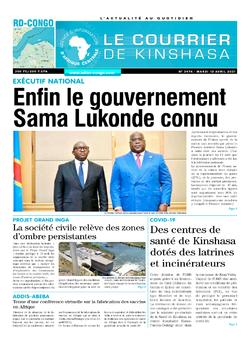Les Dépêches de Brazzaville : Édition le courrier de kinshasa du 13 avril 2021