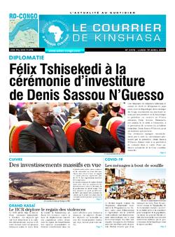 Les Dépêches de Brazzaville : Édition le courrier de kinshasa du 19 avril 2021