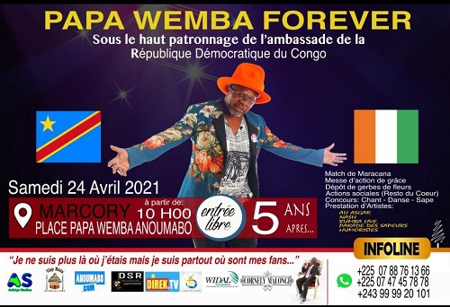 Abidjan organise Papa Wemba Forever à Anoumabo (DR)