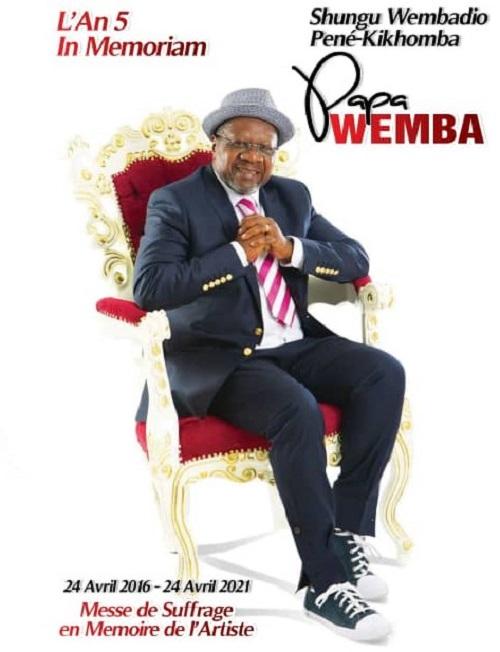 Kinshasa organise une messe de suffrage en prélude à la série de manifestations à venir en commémoration des 5 ans du décès de Papa Wemba (DR)