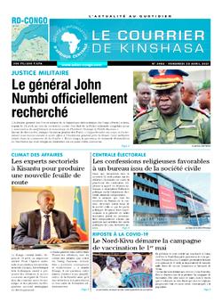 Les Dépêches de Brazzaville : Édition le courrier de kinshasa du 23 avril 2021