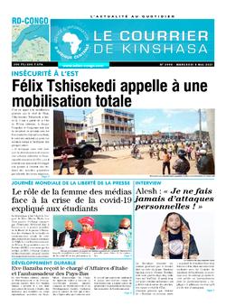 Les Dépêches de Brazzaville : Édition le courrier de kinshasa du 05 mai 2021