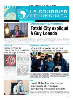 Les Dépêches de Brazzaville : Édition le courrier de kinshasa du 07 mai 2021