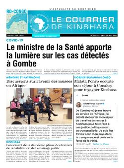 Les Dépêches de Brazzaville : Édition le courrier de kinshasa du 10 mai 2021