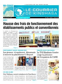 Les Dépêches de Brazzaville : Édition le courrier de kinshasa du 11 mai 2021