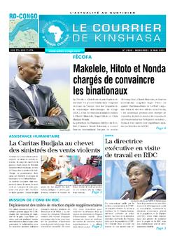 Les Dépêches de Brazzaville : Édition le courrier de kinshasa du 12 mai 2021