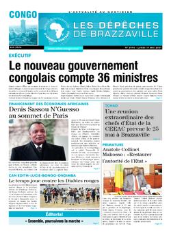 Les Dépêches de Brazzaville : Édition brazzaville du 17 mai 2021