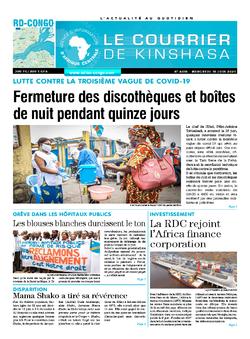 Les Dépêches de Brazzaville : Édition le courrier de kinshasa du 16 juin 2021