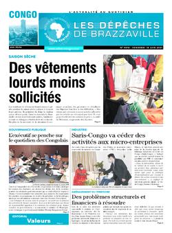 Les Dépêches de Brazzaville : Édition brazzaville du 18 juin 2021