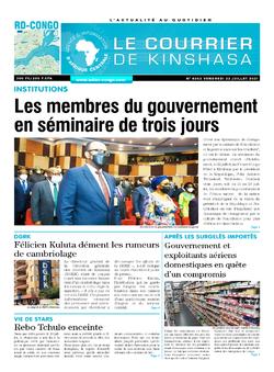 Les Dépêches de Brazzaville : Édition le courrier de kinshasa du 23 juillet 2021