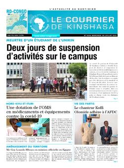 Les Dépêches de Brazzaville : Édition le courrier de kinshasa du 28 juillet 2021