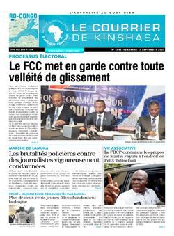 Les Dépêches de Brazzaville : Édition le courrier de kinshasa du 17 septembre 2021