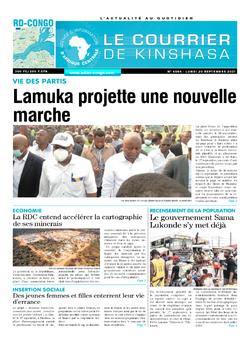 Les Dépêches de Brazzaville : Édition le courrier de kinshasa du 20 septembre 2021