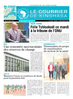 Les Dépêches de Brazzaville : Édition le courrier de kinshasa du 21 septembre 2021