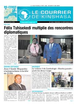 Les Dépêches de Brazzaville : Édition le courrier de kinshasa du 24 septembre 2021