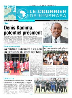 Les Dépêches de Brazzaville : Édition le courrier de kinshasa du 19 octobre 2021