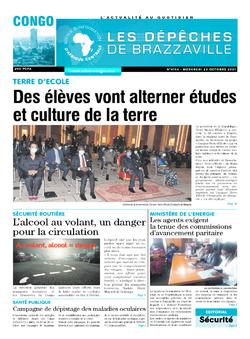Les Dépêches de Brazzaville : Édition brazzaville du 20 octobre 2021