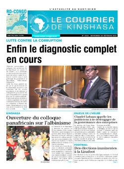 Les Dépêches de Brazzaville : Édition le courrier de kinshasa du 20 octobre 2021