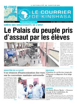 Les Dépêches de Brazzaville : Édition le courrier de kinshasa du 22 octobre 2021