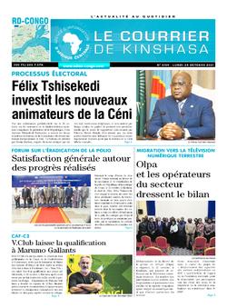 Les Dépêches de Brazzaville : Édition le courrier de kinshasa du 25 octobre 2021