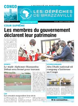 Les Dépêches de Brazzaville : Édition brazzaville du 26 octobre 2021