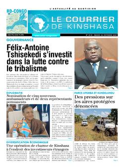Les Dépêches de Brazzaville : Édition le courrier de kinshasa du 26 octobre 2021