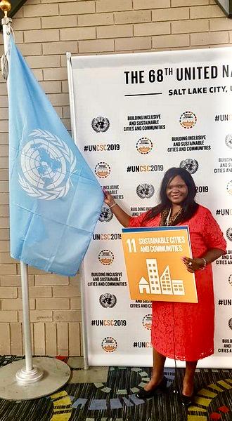 Agnès Ounounou à la 68ème Conférence des Nations Unies et de la Société civile