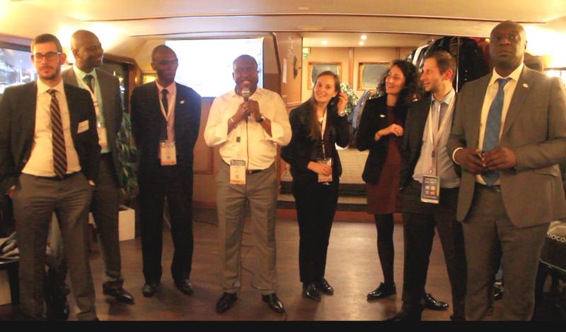 Capture d'écran - Alexis N'Dinga lors de la rencontre avec 54 de ses gastro-entérologues en congrès à Paris