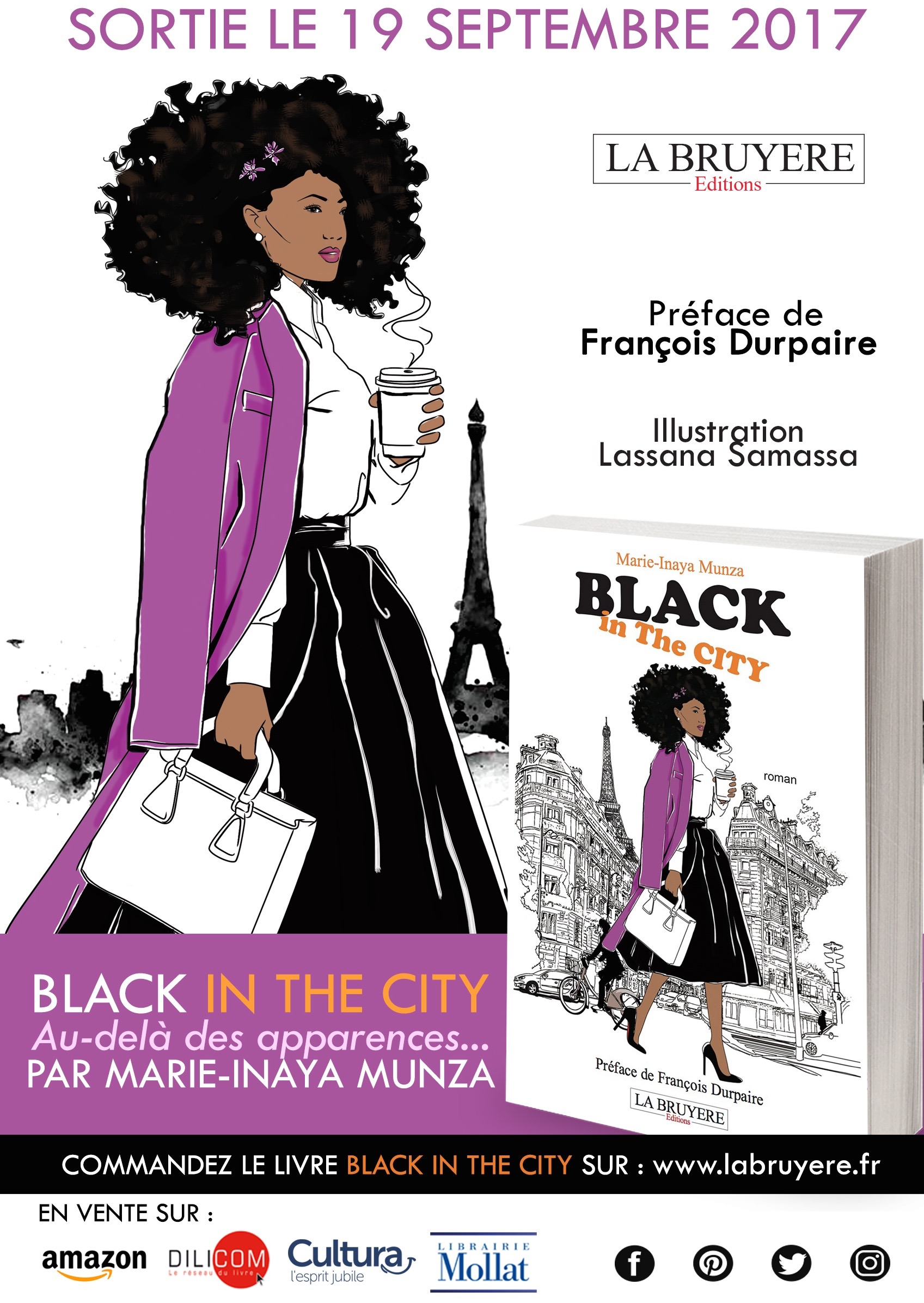 "Couverture du premier roman ""Black in The City"" de Marie-Inaya Munza"