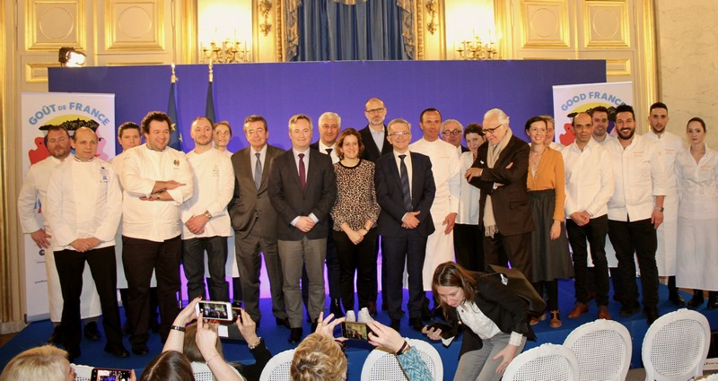 Goût de/Good France 2020 photo de groupe le 5 mars 2020 au Quai d'Orsay à Paris